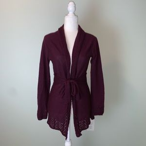 Anthropologie Knitted and Knotted Cardigan 3271